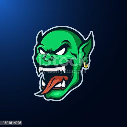 istock green goblin head mascot logo design vector 1324814293