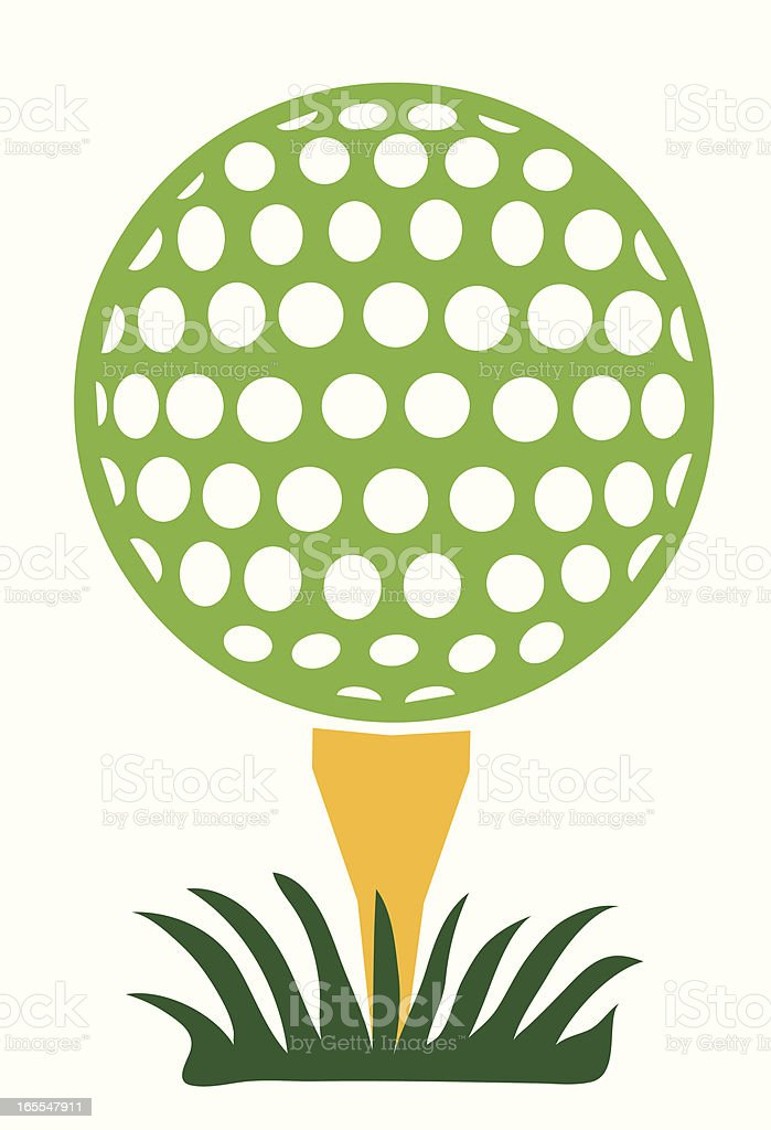 green golf ball royalty-free stock vector art