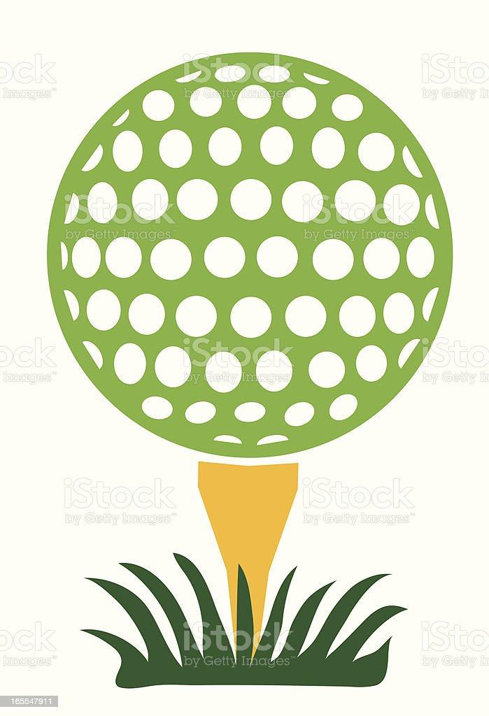 green golf ball vector art illustration
