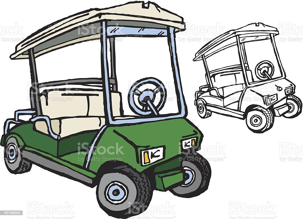 Golf cart clip art vector