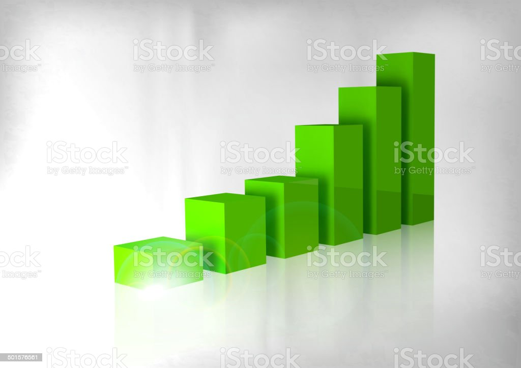 Grüne Diagramm – Vektorgrafik