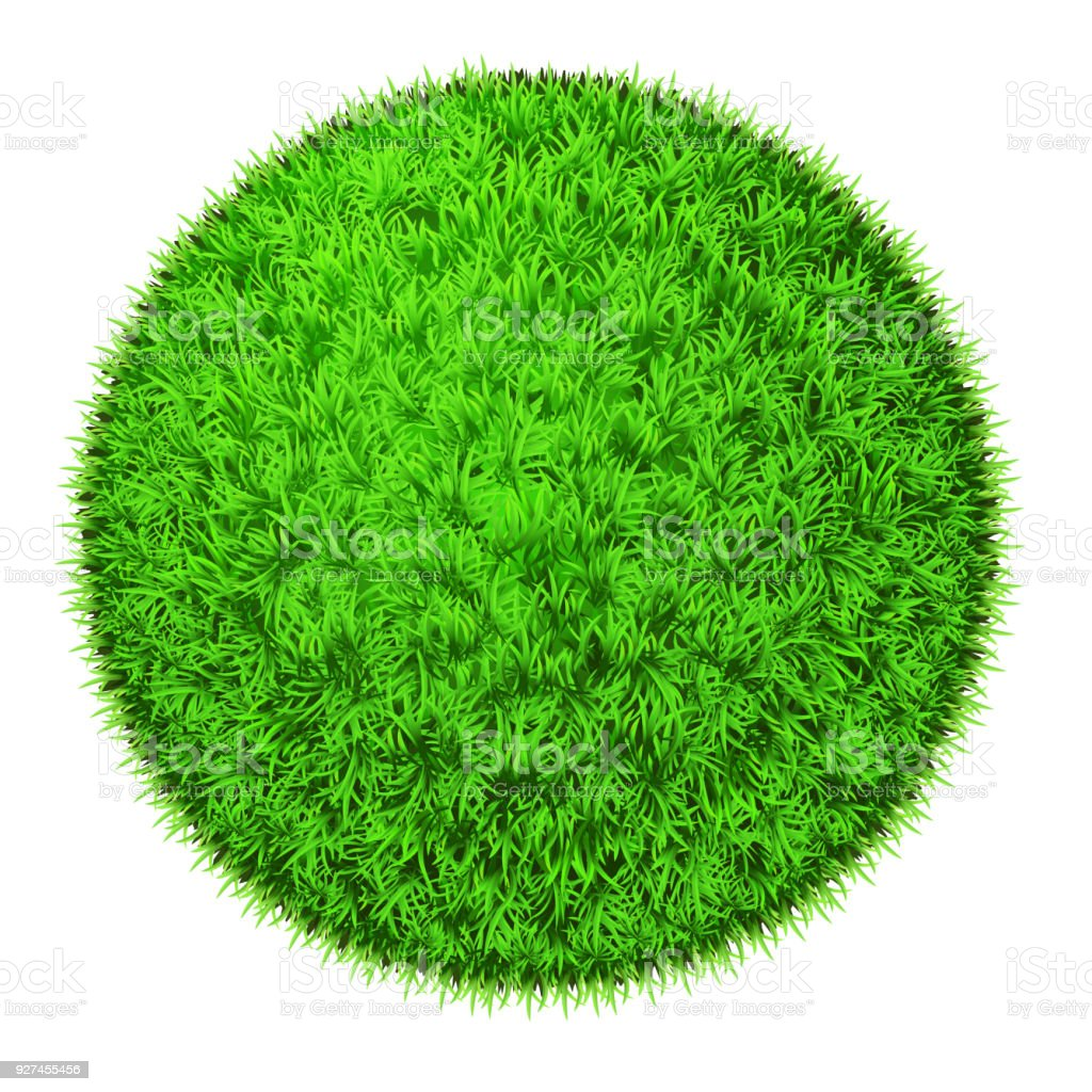 Green grass ball, isolated
