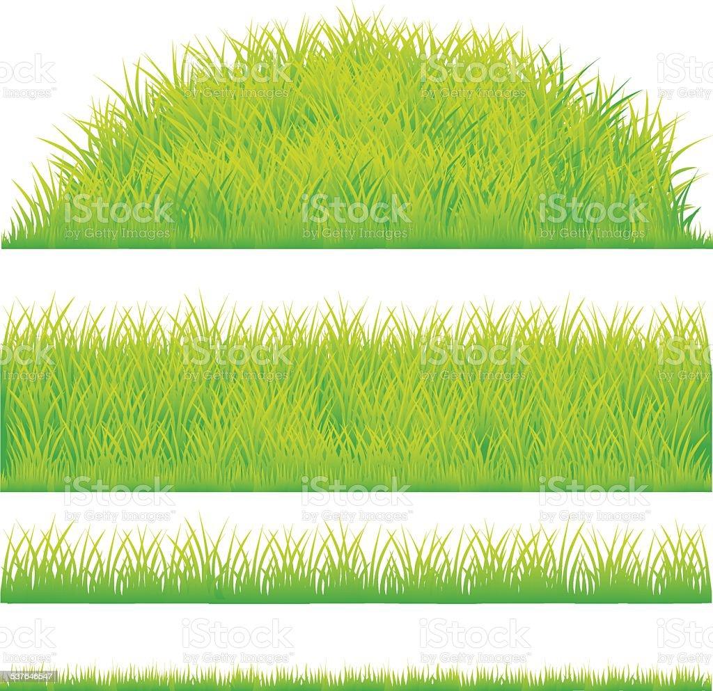 green grass design element vector art illustration