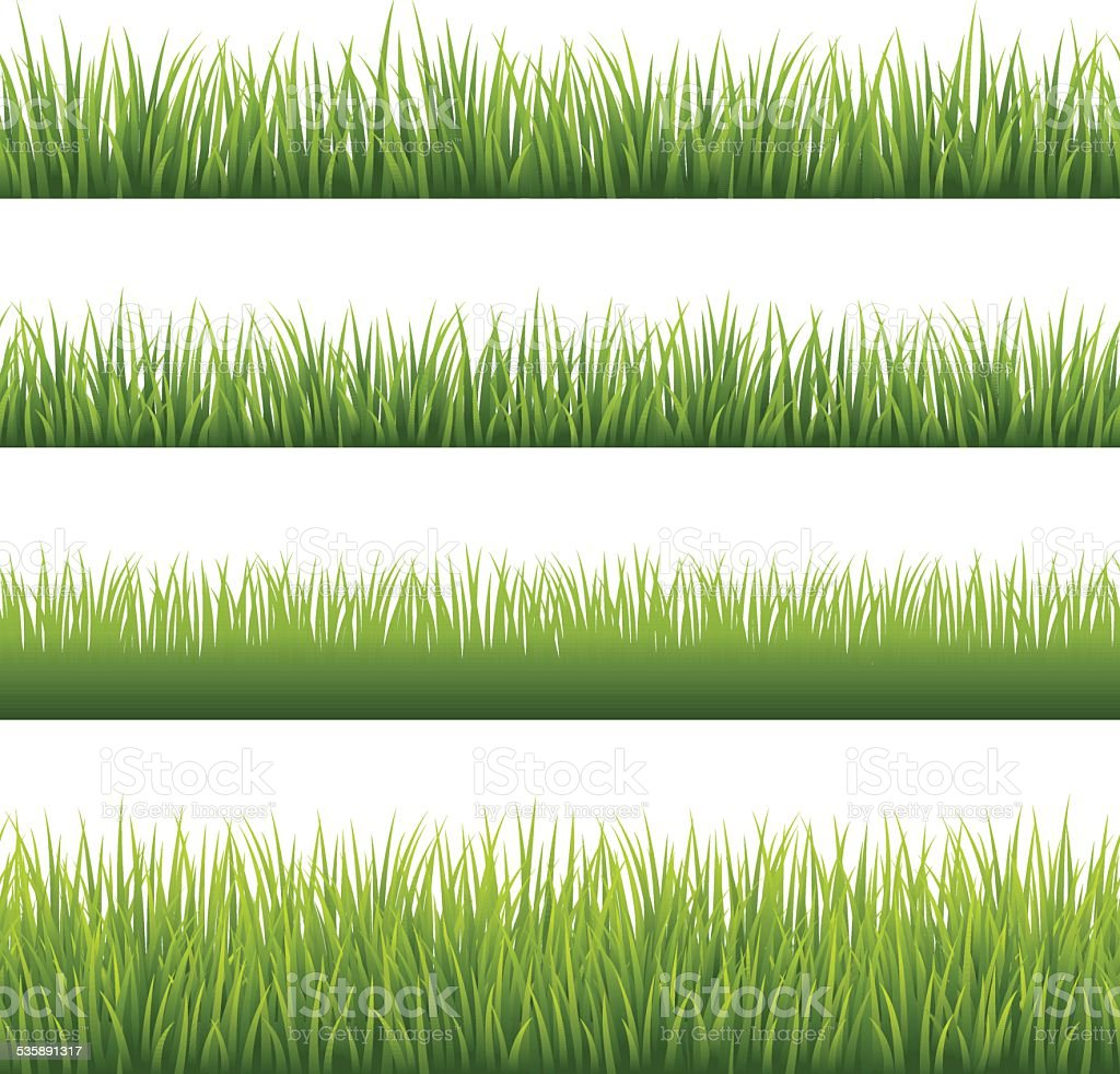 Green Grass - Seamless vector art illustration