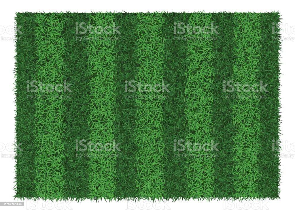 Green grass striped football field, vector illustration. vector art illustration
