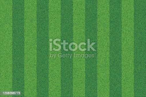 istock Green grass striped realistic textured background 1208398773
