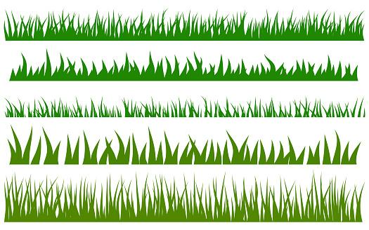 Green grass vector set