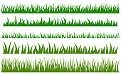 Green grass vector set