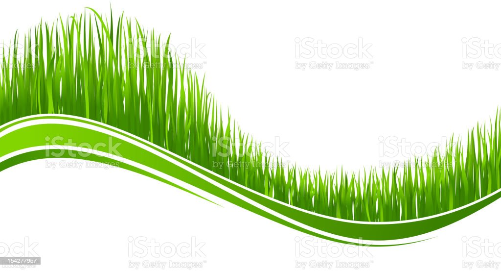 Green grass wave for easter holiday vector art illustration