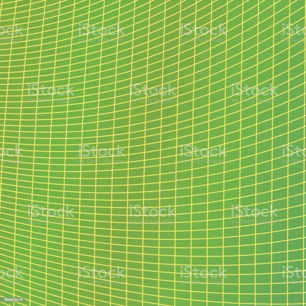 Green Grid Background Vector Illustration From Curved Angular Lines
