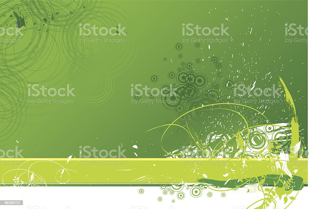Green Grunge Background royalty-free green grunge background stock vector art & more images of abstract