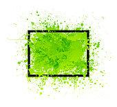 green paint splatter vector design background
