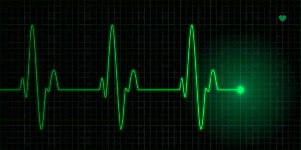 green heart pulse - ecg stock illustrations, clip art, cartoons, & icons