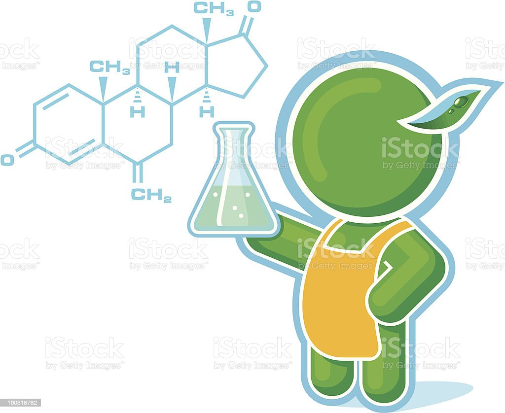Green Hero as a Chemistry Teacher royalty-free green hero as a chemistry teacher stock vector art & more images of adult