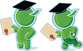 Green Hero Graduated with Diploma