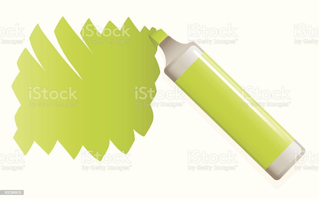 green highlighter pen royalty-free stock vector art