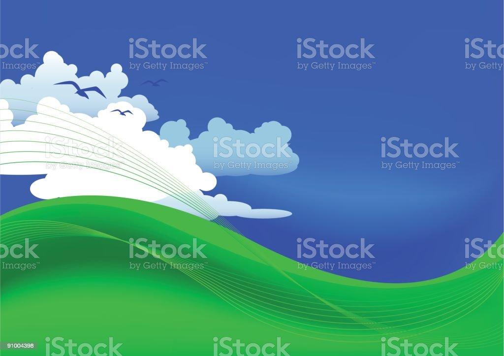 green hills royalty-free stock vector art