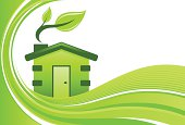Green home background