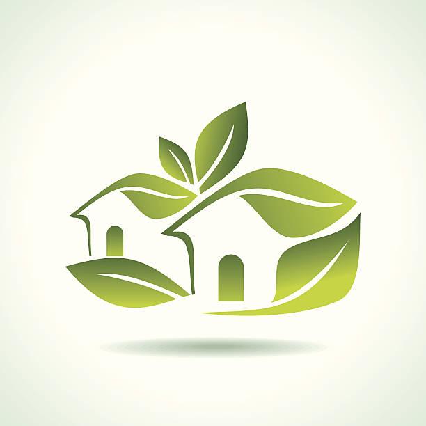 green home-symbol auf weißem hintergrund - neues zuhause stock-grafiken, -clipart, -cartoons und -symbole