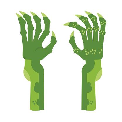 green horror hands