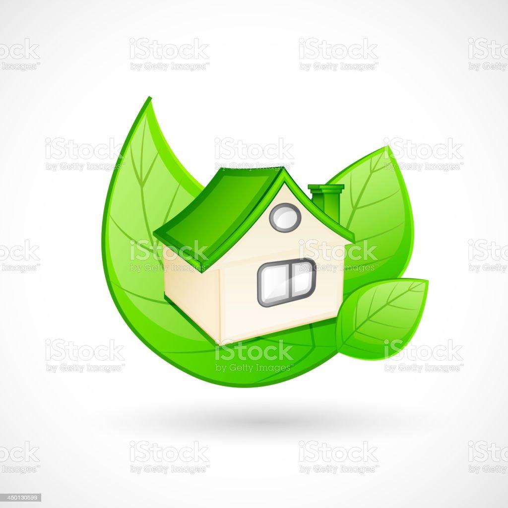 Green House Concept royalty-free stock vector art