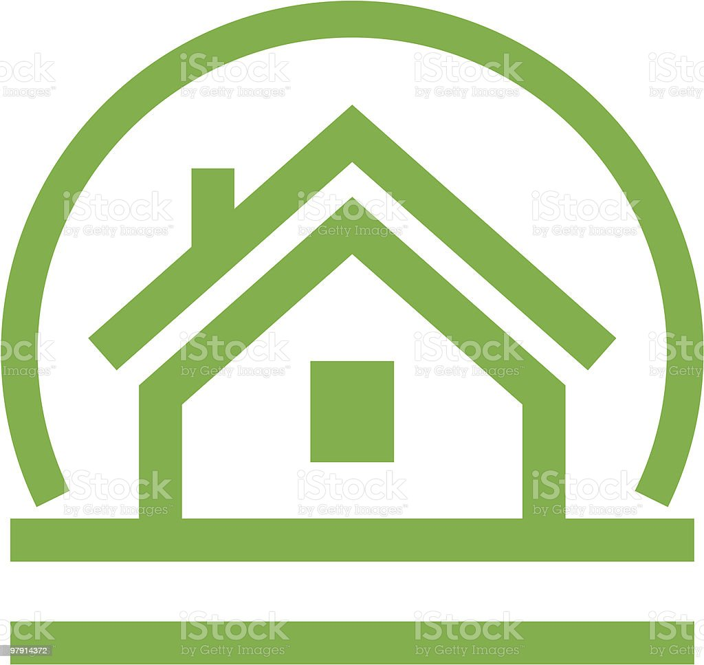 A green house vector icon on a white background royalty-free a green house vector icon on a white background stock vector art & more images of architecture