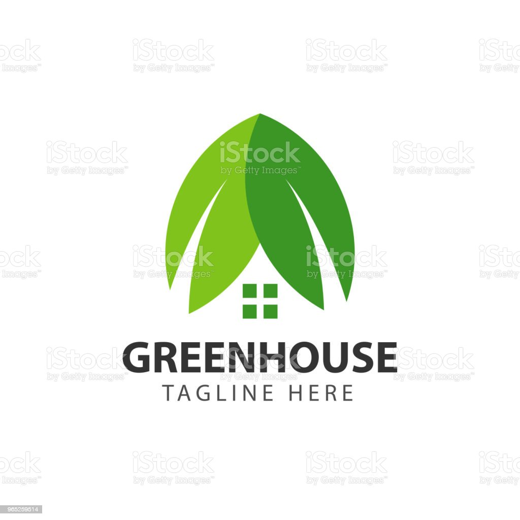 Green House Vector Template Design royalty-free green house vector template design stock vector art & more images of agriculture