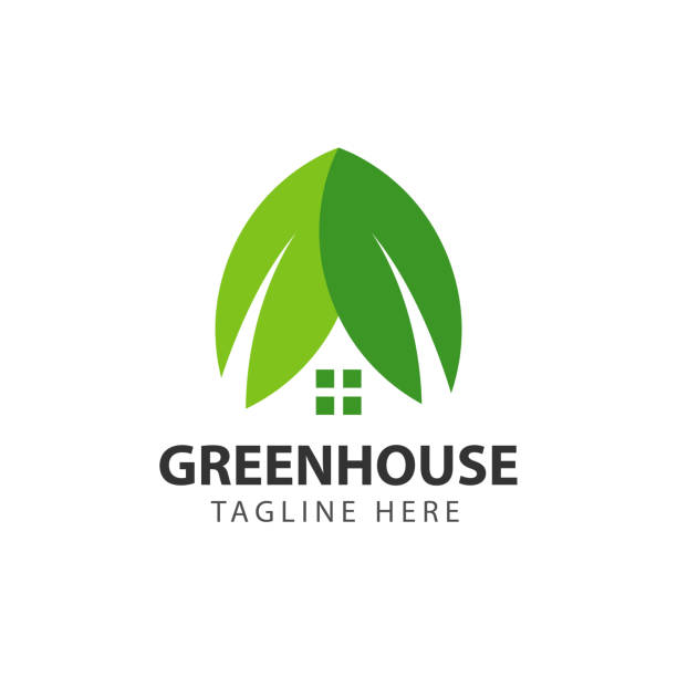 Green House Vector Template Design Green House Vector Template Design garden center stock illustrations