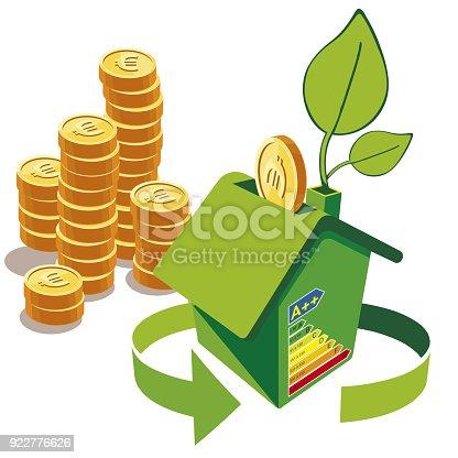 Energy-saving or Energo-passive house. Alternative energy resources