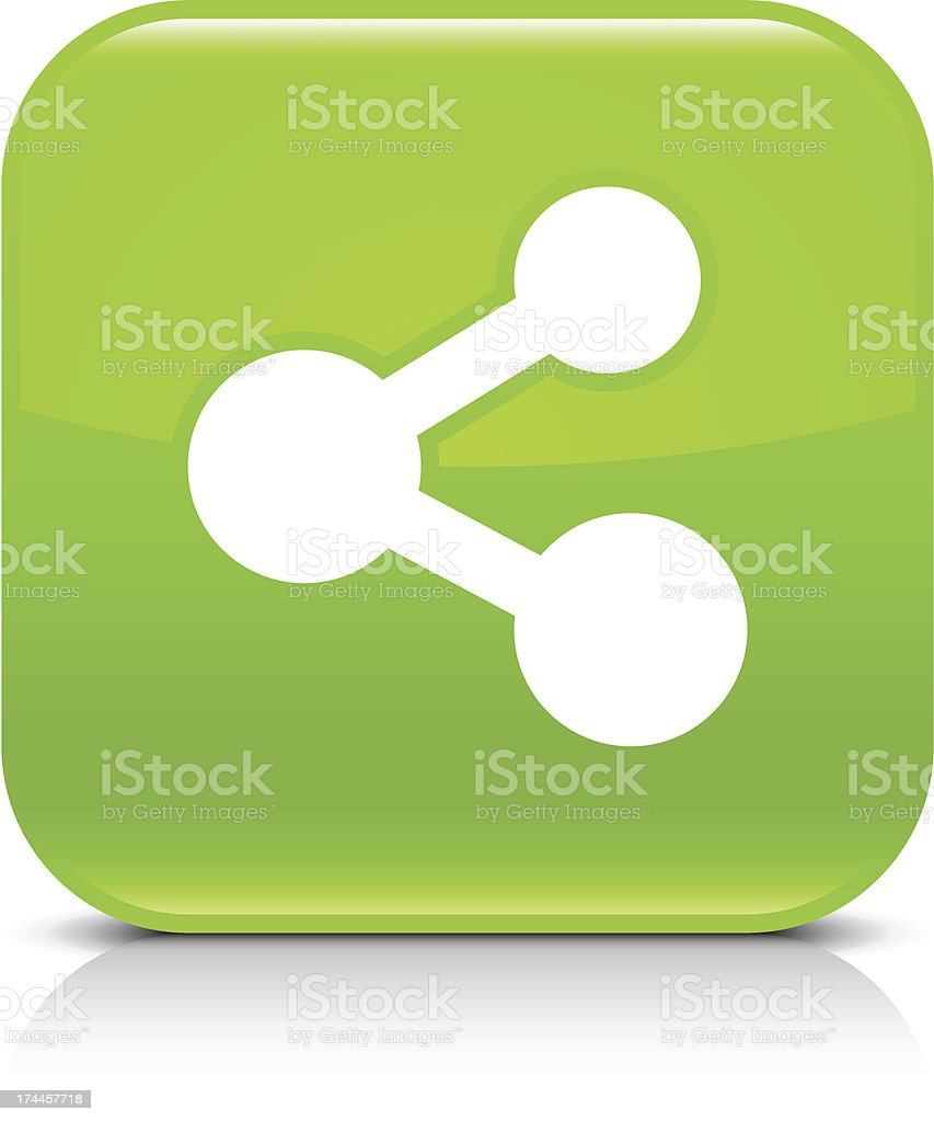 Green icon share sign glossy rounded square web button royalty-free green icon share sign glossy rounded square web button stock vector art & more images of application form