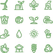 Green Icons - Line Series