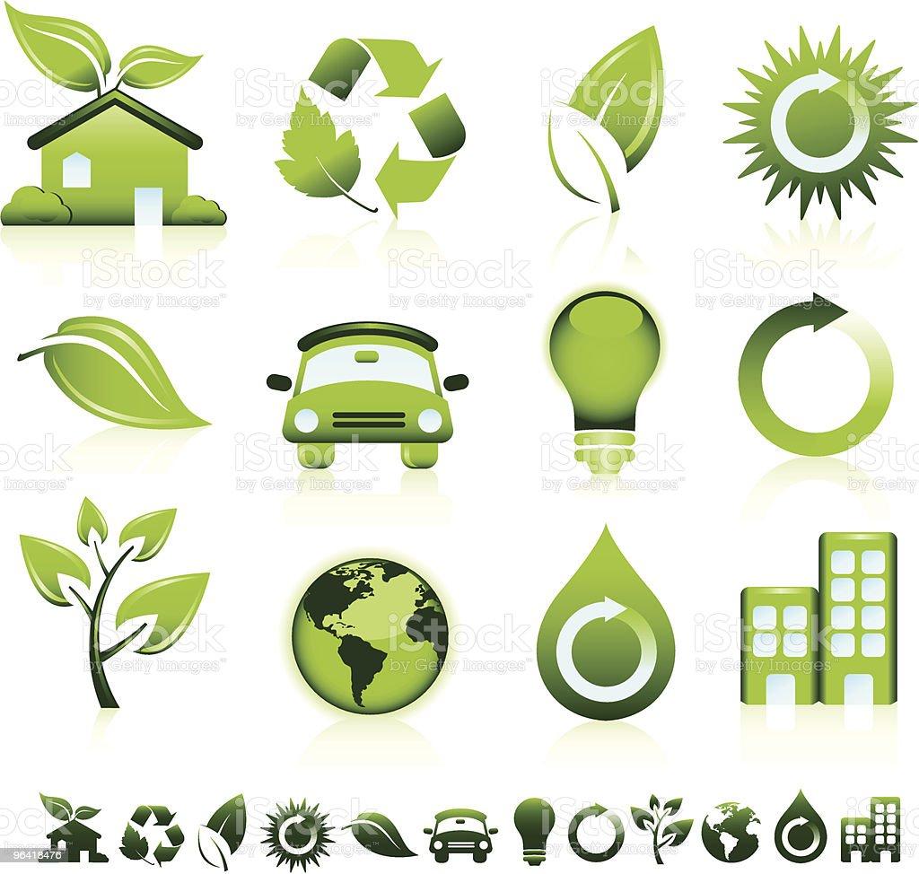 Green Icons Green symbol. Arrow Symbol stock vector