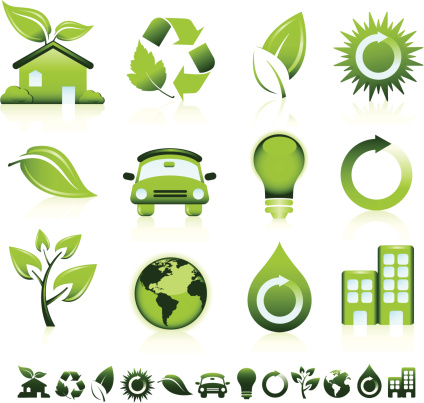 Green Icons Stock Illustration - Download Image Now