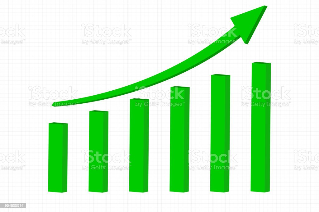 Green indication arrow. Financial statistic rising trend royalty-free green indication arrow financial statistic rising trend stock vector art & more images of arrow symbol