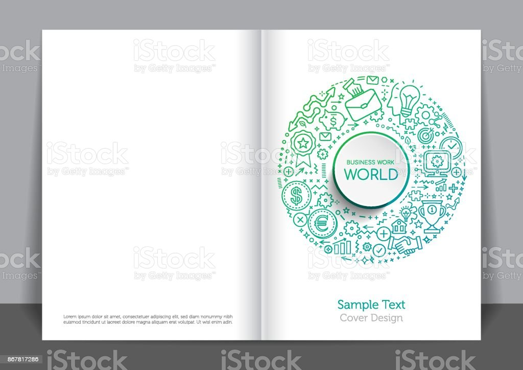 Green Industry Cover design vector art illustration