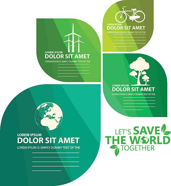illustrations, cliparts, dessins animés et icônes de infographie vert - développement durable