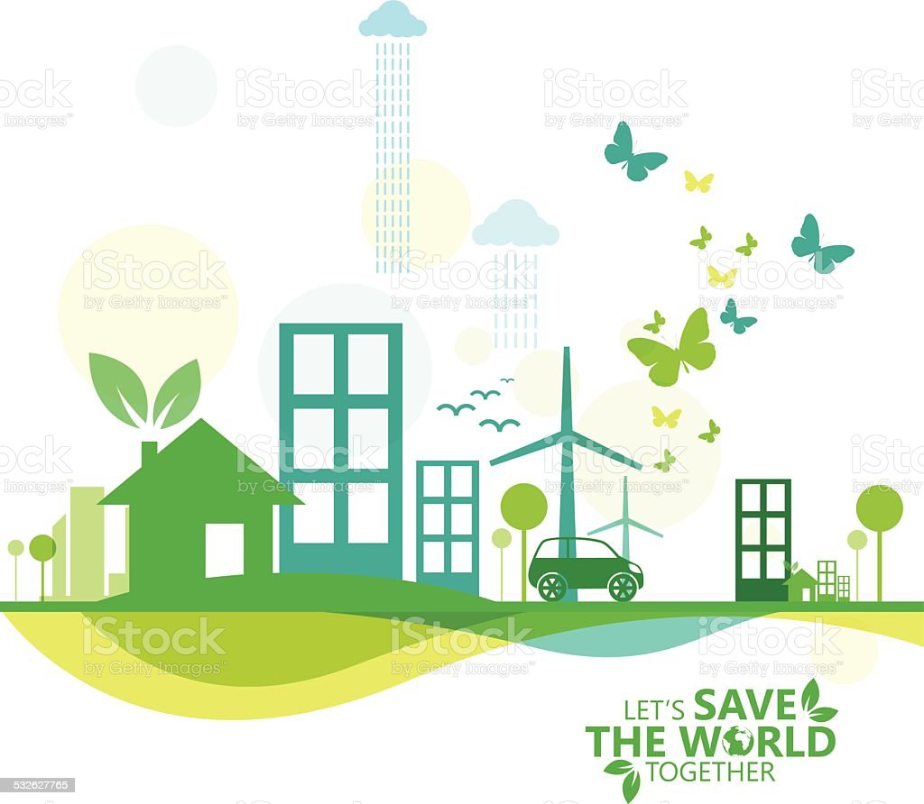 green infographic vector art illustration
