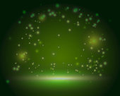 Green ireland magic forest scene backdrop blank template