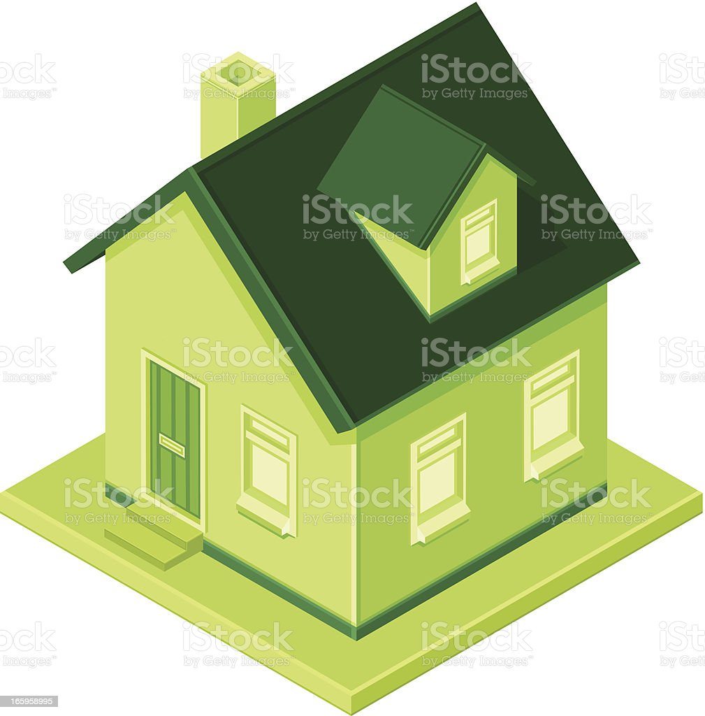 Green Isometric House royalty-free green isometric house stock vector art & more images of building exterior