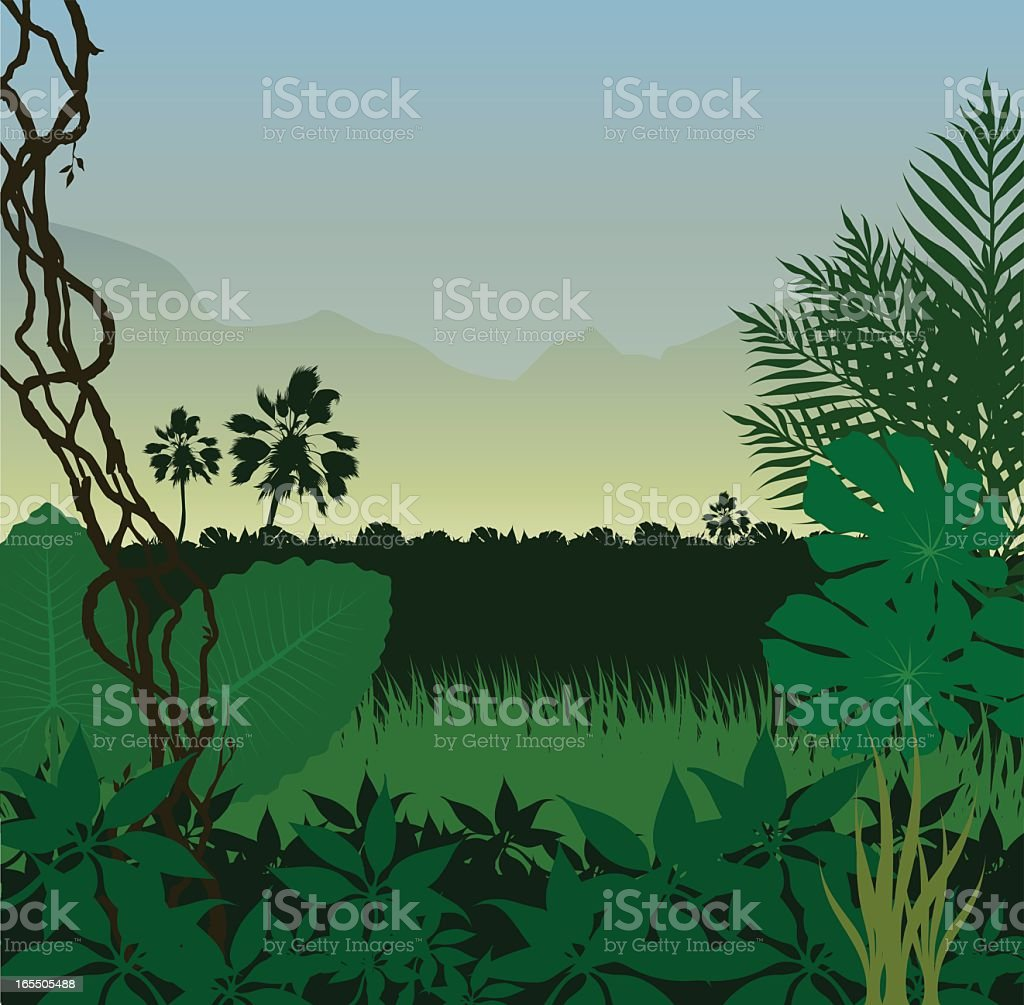 Green Jungle royalty-free stock vector art