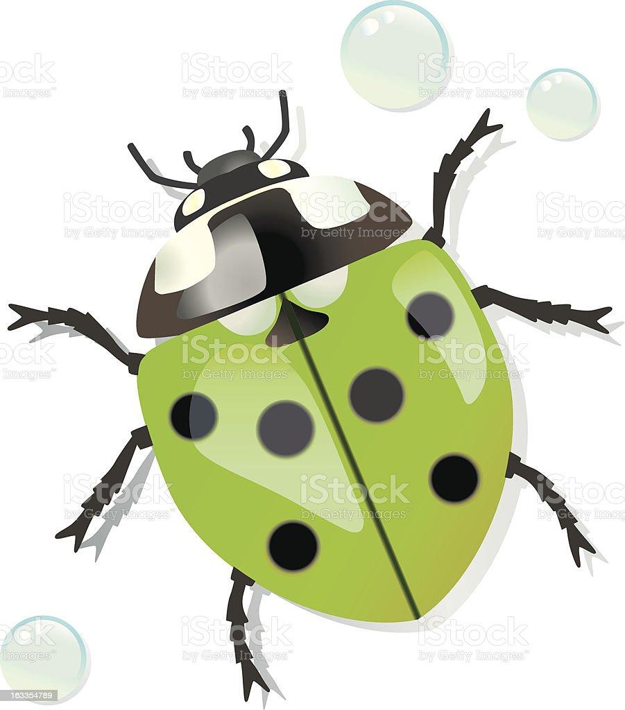 green Ladybug. royalty-free stock vector art