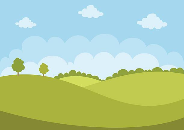 green landscape - rock formations stock illustrations
