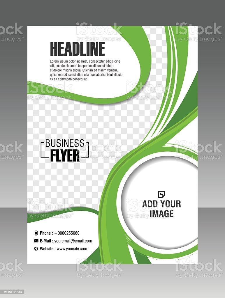 Green Layout business brochure. Layout flyer, template.  Stock Illustration vector art illustration