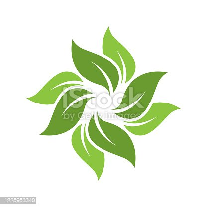 Green leaf ecology nature element vector icon. plant. tree nature logo design decorative elements. beautiful leaf vector. leaf vector. silhouette leaf vector
