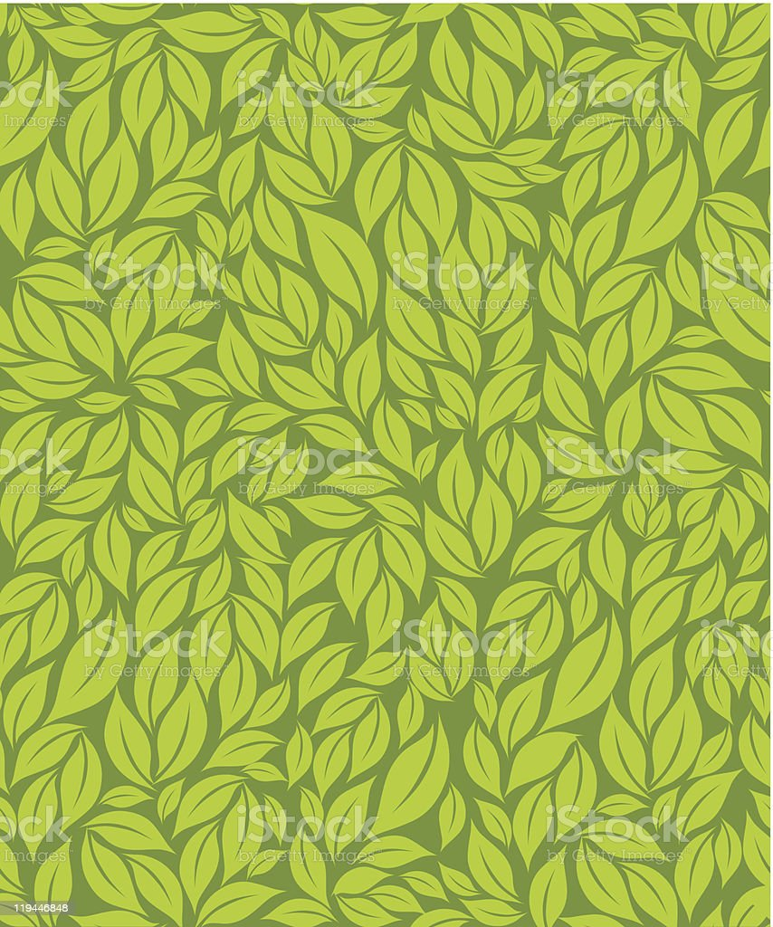 A green leaf pattern background royalty-free stock vector art