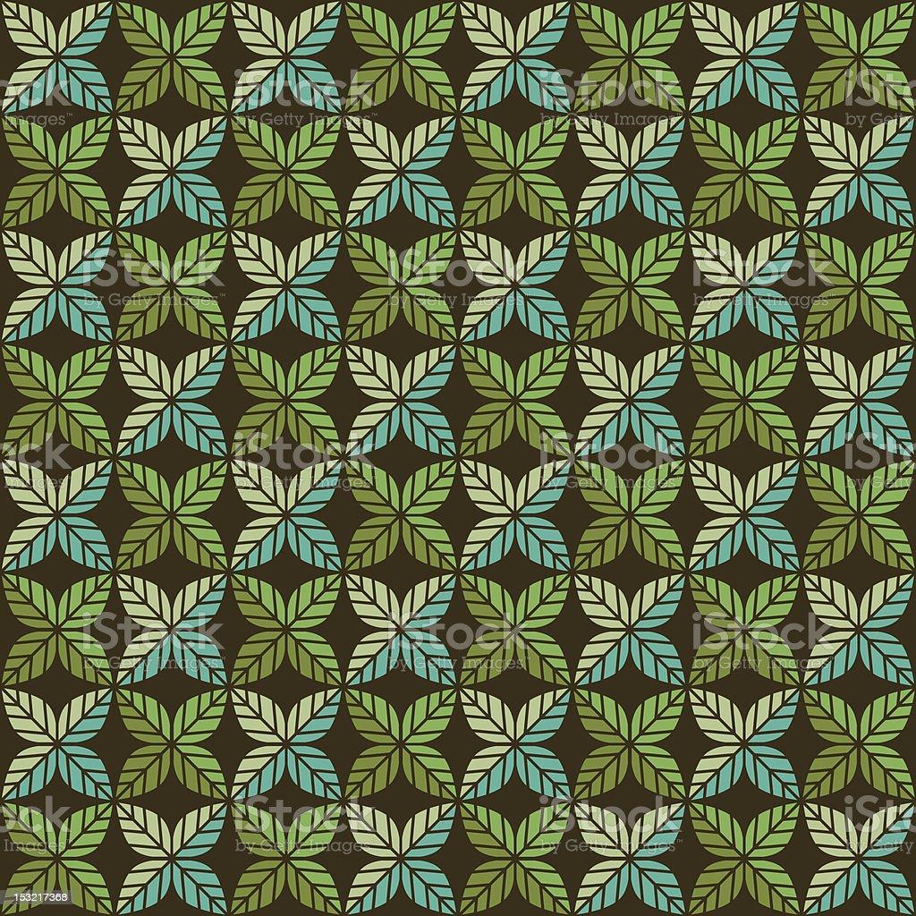Green Leaf Pattern (Seamless) vector art illustration
