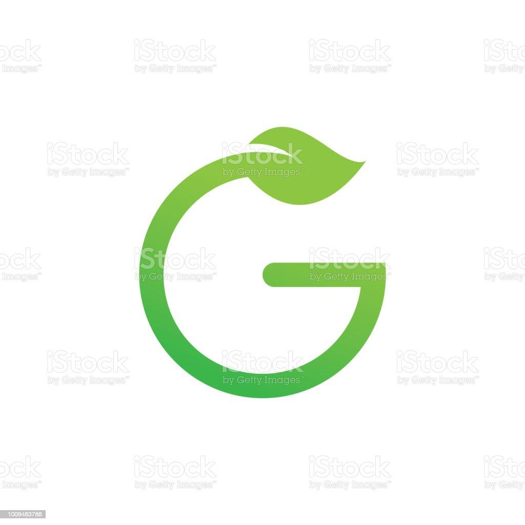 Green leaf with letter g logo vector design template stock vector green leaf with letter g logo vector design template royalty free green leaf with letter maxwellsz
