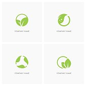 Green leaves and ecology design element