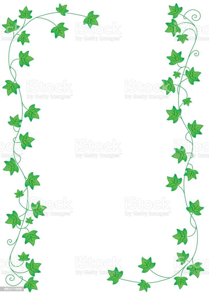 Green leaves border on white background royalty-free green leaves border on white background stock vector art & more images of art