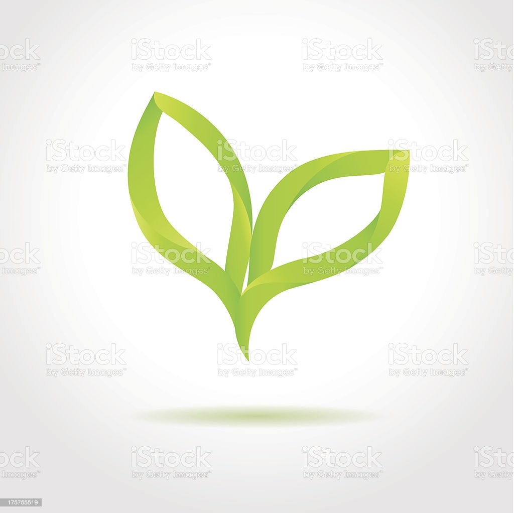 Green leaves. Eco concept royalty-free stock vector art